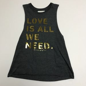 Spiritual Gangster Love Is All We Need Tank Top S